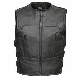 Men-Premium-Cowhide-Leather-Motorcycle-Biker-Bulletproof-Style-Vest