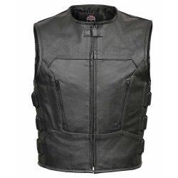Leather-Motorcycle-Biker-Bulletproof-Vest