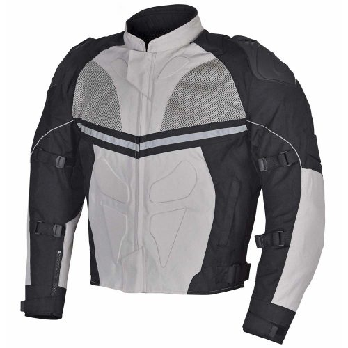 Men-Motorcycle-Textile-Multi-Season-Jacket-Black-White/Gray