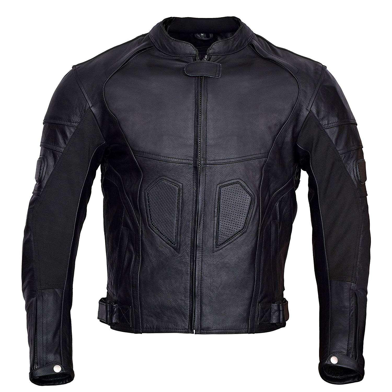 Mens-Black-Heart-Motorcycle-Leather-Race-Jacket-Black