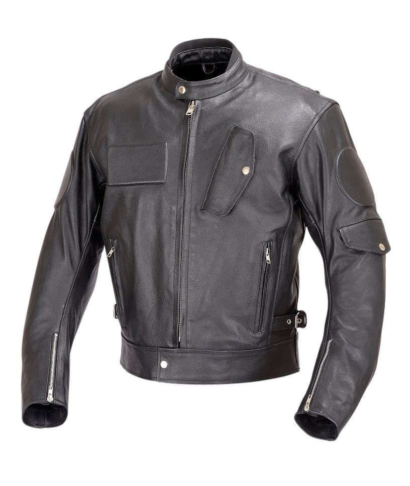 Men-Motorcycle-Race-Leather-Jacket-5pc-CE-Rated-Armor-M-Black