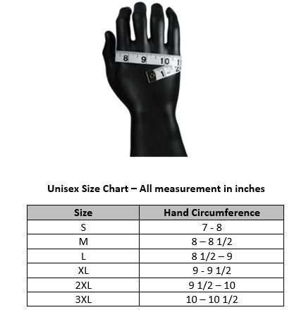 Biker-Reflective-Leather-Gloves-G6-size-chart