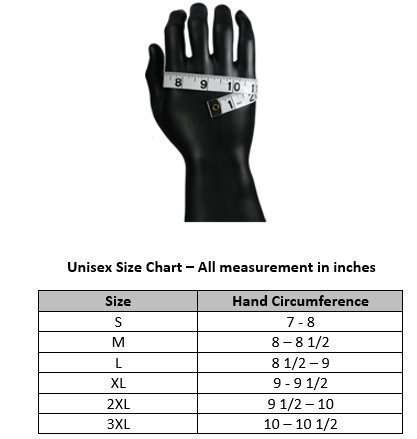 Biker-Winter-Gloves-G4-size-chart