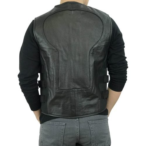 Men-Premium-Cowhide-Leather-Motorcycle-Biker-Bulletproof-Style-Vest
