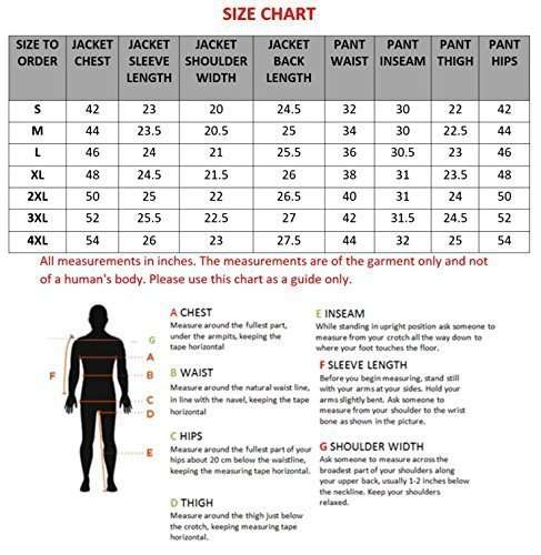2PC-Motorcycle-Biker-Original-Drum-Dyed-Cowhide-Race-Suit-size-chart