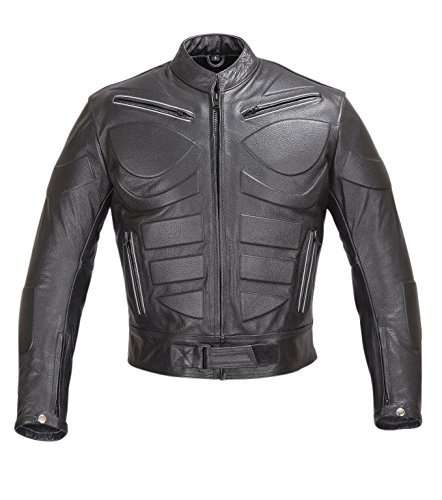 Mens-Ace-Motorcycle-Armor-Leather-Jacket-Black-4XL
