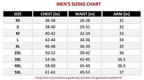 Men-Motorcycle-Four-Season-Textile-Race-Jacket -size-chart