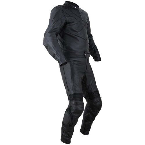 2PC-Motorcycle-Biker-Original-Drum-Dyed-Cowhide-Race-Suit