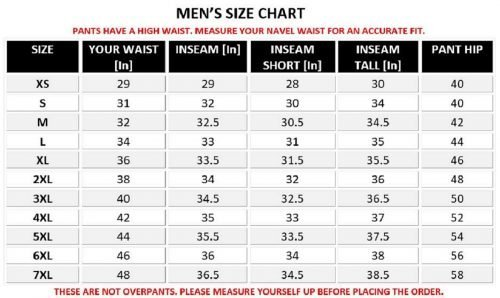 Anchorage-Mens-Textile-Motorcycle-Waterproof-Pants-size-chart