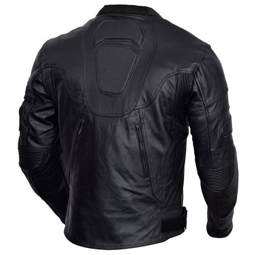 Mens-Black-Heart-Motorcycle-Leather-Race-Jacket