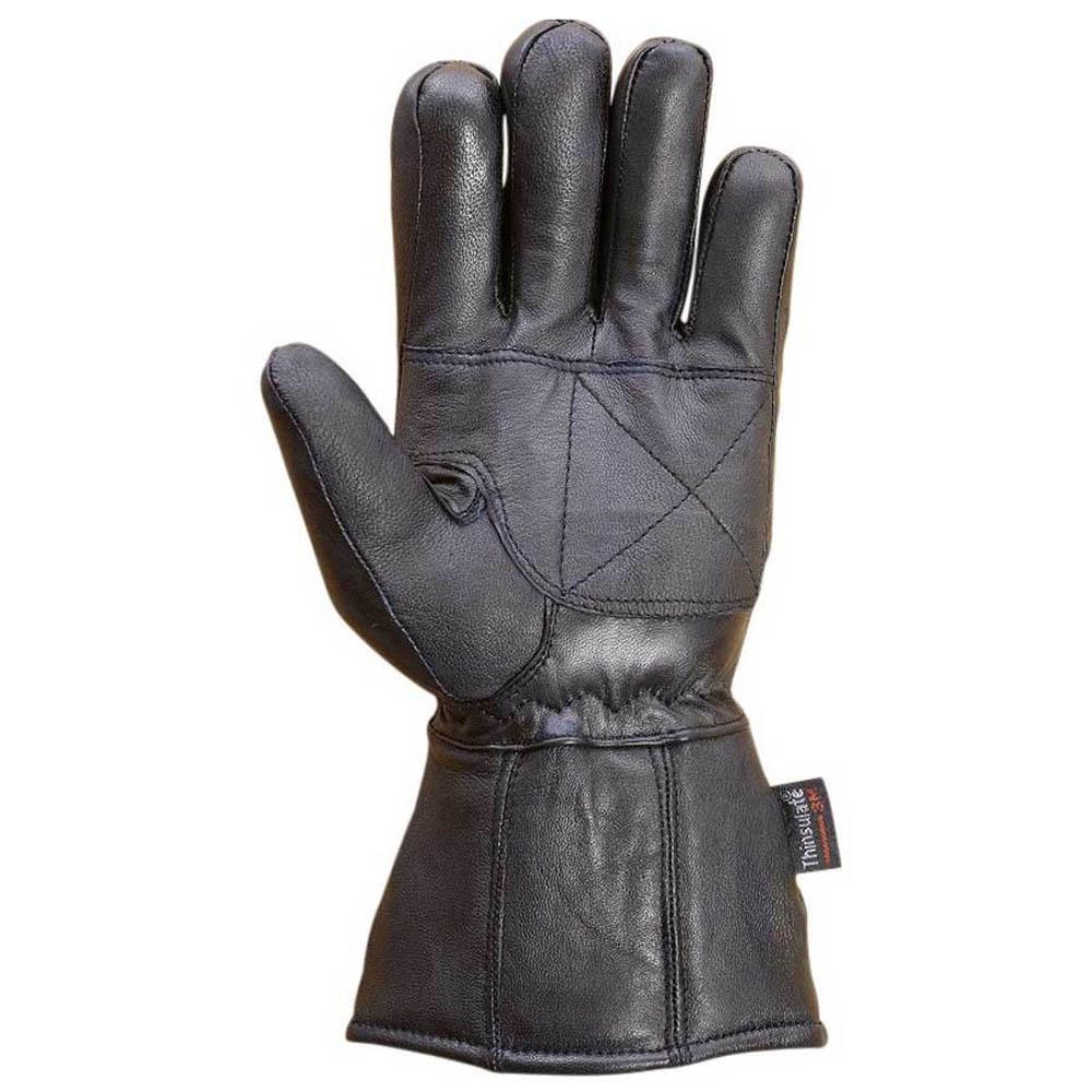Mens-Sheep-Leather-Winter-Motorcycle-Biker-Gauntlet-Riding-Gloves