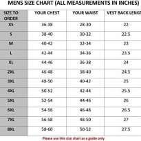 Leather-Motorcycle-Vest-size-chart