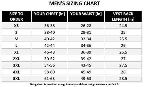 biker-leather-vest-v11-size-chart