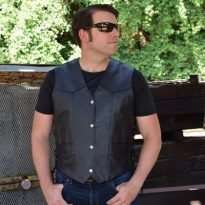 Men-Classic-Leather-Motorcycle-Biker-Vest