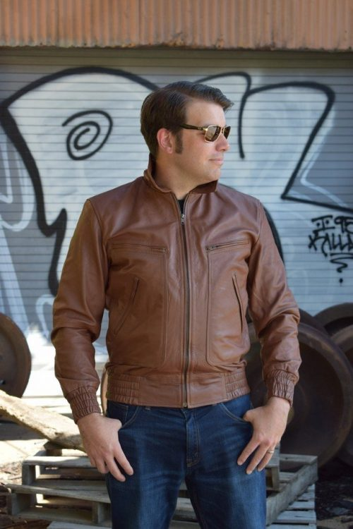 Men-bomber-Leather-fashion-Jacket
