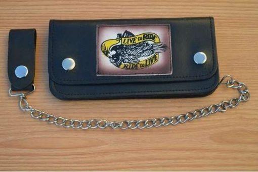 Handmade-Genuine-Cow-Leather-Biker-Trucker-Chain-Wallet