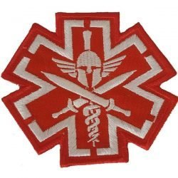 MEDIC-PIRATE-SKULL-RED-TACTICAL-Embroidered-Iron-On-Patch