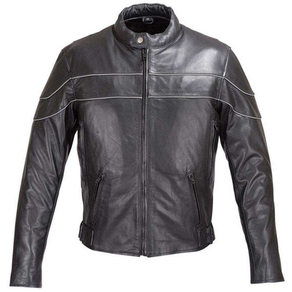 Reflective-Stripe-Leather-Motorcycle-Jacket-Black