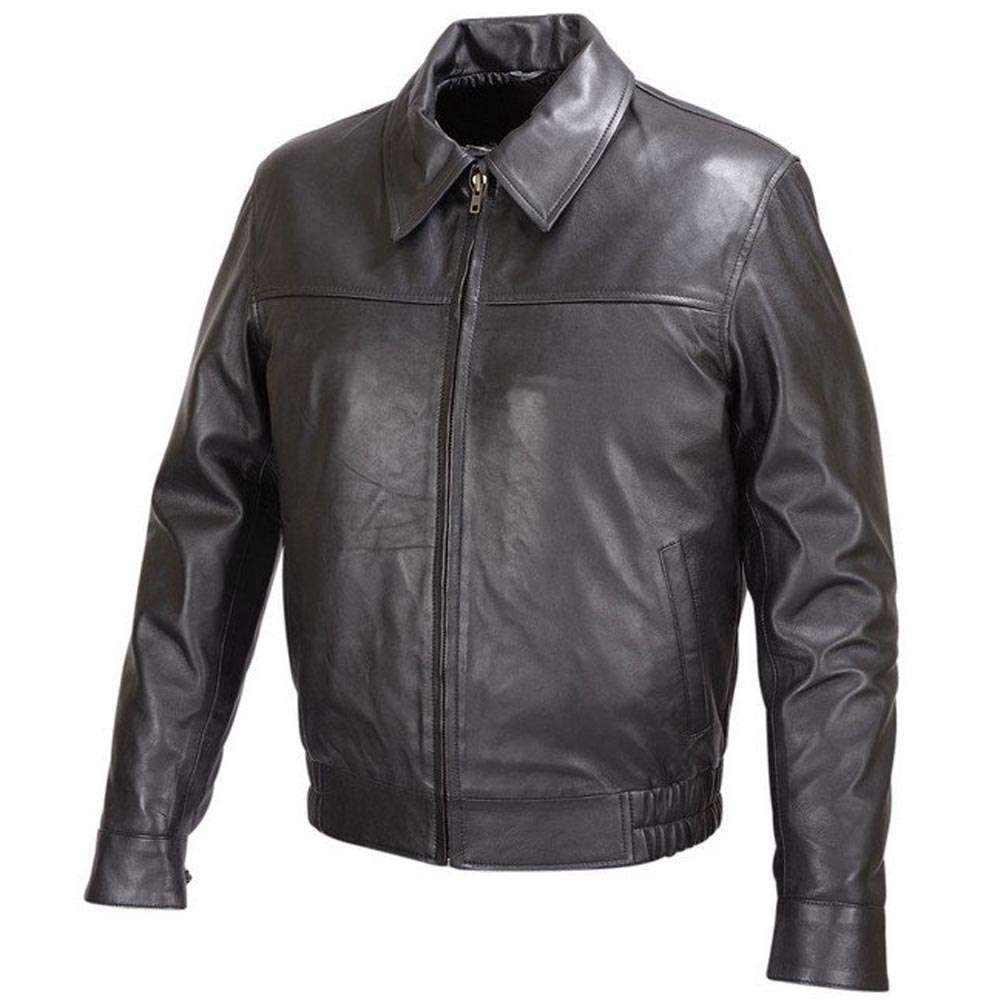 MENS-BLACK-LAMBSKIN-LEATHER-BOMBER-CLASSIC-FIT-JACKET-FJ5