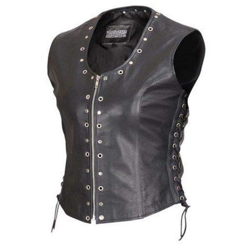 front-zip-ladies-biker-motorcycle-vest
