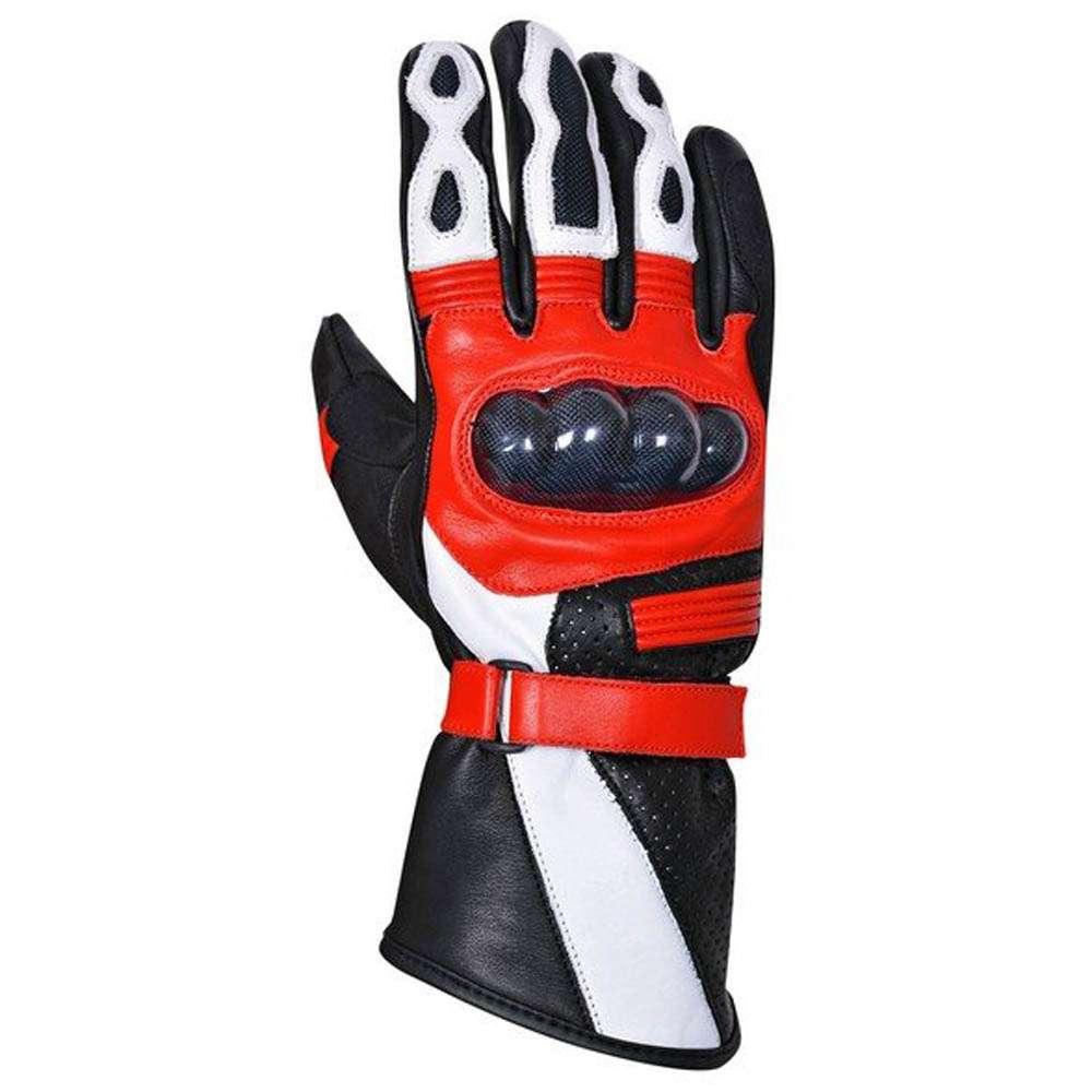 Premium Sheep Leather Winter Motorcycle Biker Riding Gloves Mens Black G8