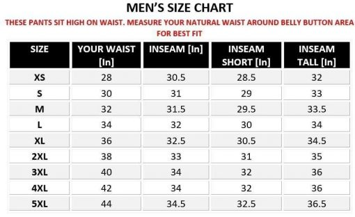 Mens-Motorcycle-Leather-Pants-sizing