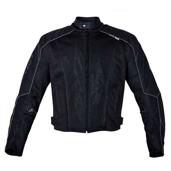 Mens-Dallas-Textile-Motorcycle-Jacket-Black-S