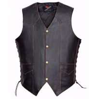 Men-Motorcycle-Leather-Vest-Vintage-Classic-Distressed-American-Eagle