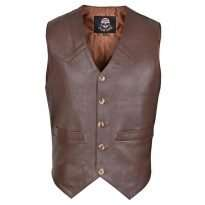 Brown-Mens-Premium-Leather-Vest-Western-Style