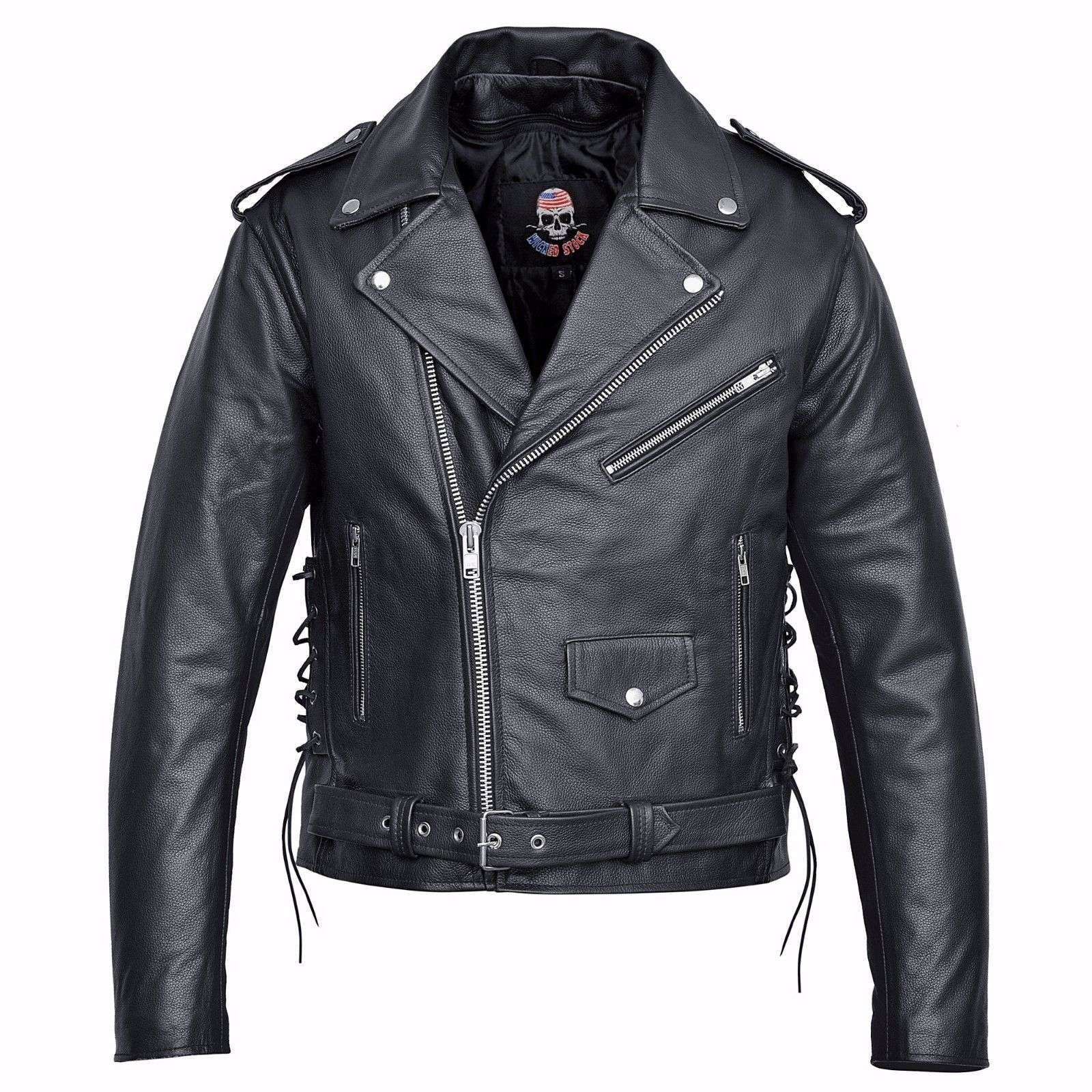 US-Eagle-Motorcycle-Leather-Jacket-Black