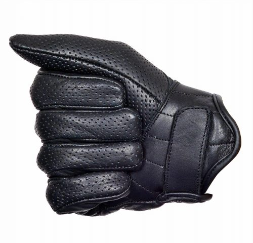 Perforated-Cowhide-Motorcycle-Biker-Riding-Gloves