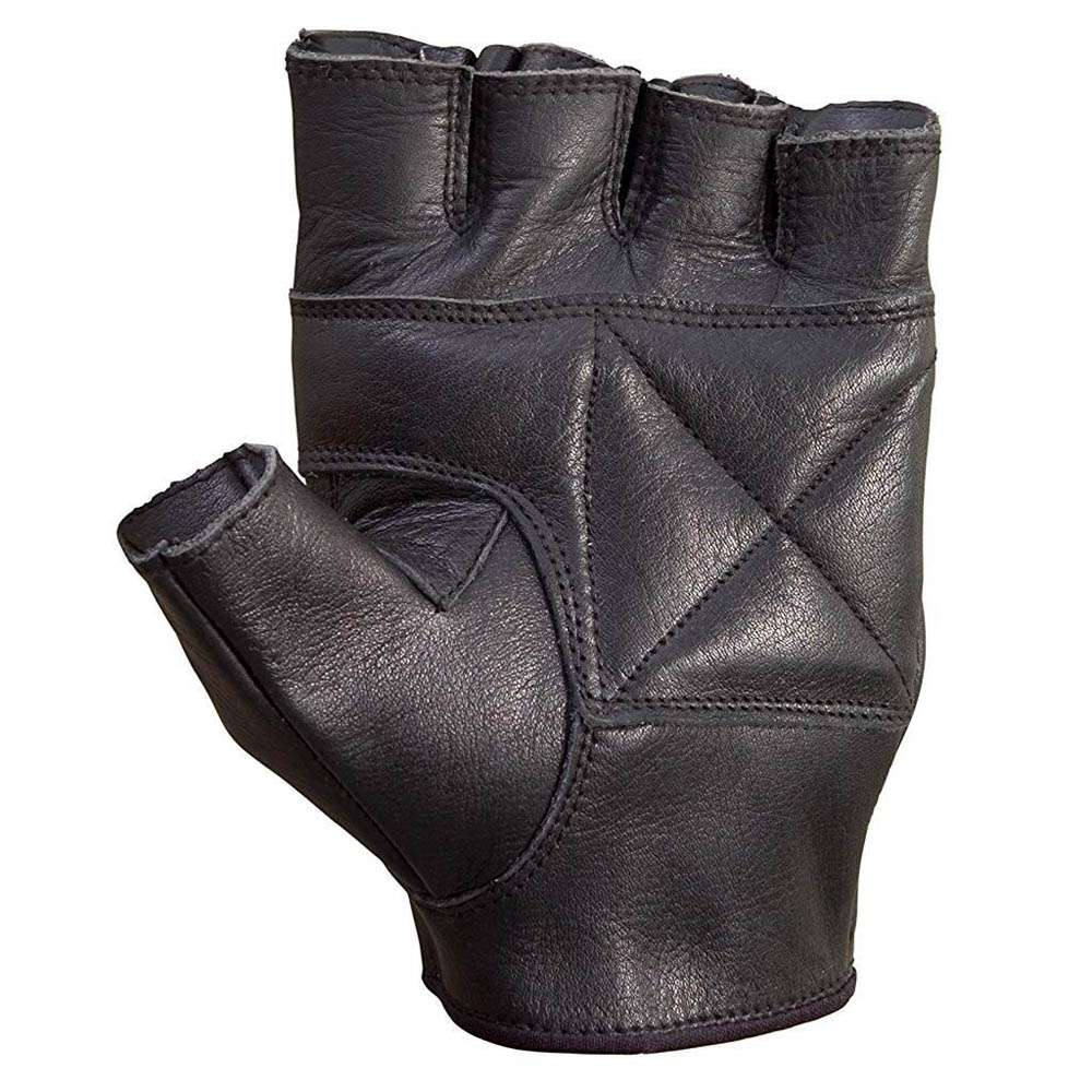 Unisex-Premium-Cowhide-Leather-Half-Cycling-Gloves