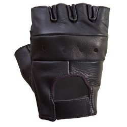 Unisex-Premium-Cowhide-Leather-Half-Finger-Gloves