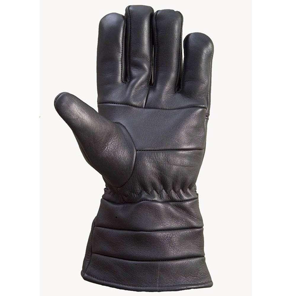 Leather-Motorcycle-Biker-Winter-Gloves-Black