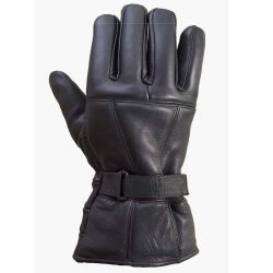 Leather-Motorcycle-Biker-Riding/Cruising-Winter-Gloves-Black