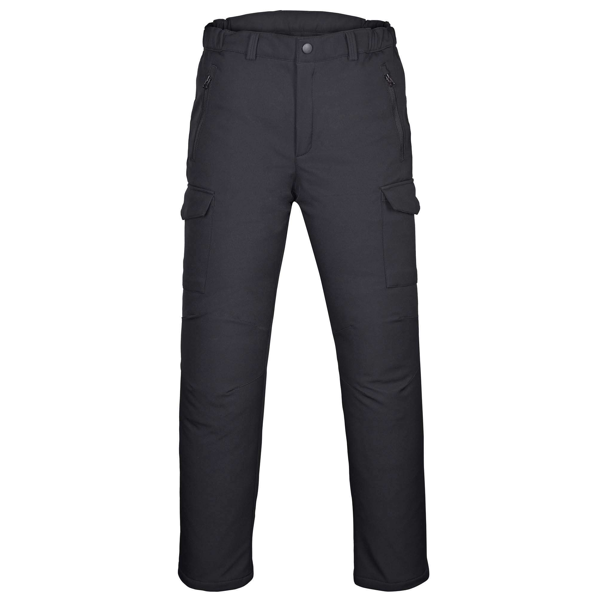 Mens-Water-Repellent-Softshell-Fleece-Lined-Cargo-Pants