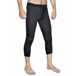 Mens-Cool-dry3/4Base-Layer-Legging-Compression-Pants-Tights-for-Running-Gym