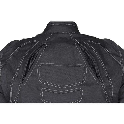 Men-Four-Season-Motorcycle-Textile-Race-Jacket-WaterProof-Black-CE-Protection