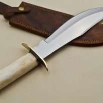 Hunting-Knife-Brass-Guard-Camel-Bone-Handle