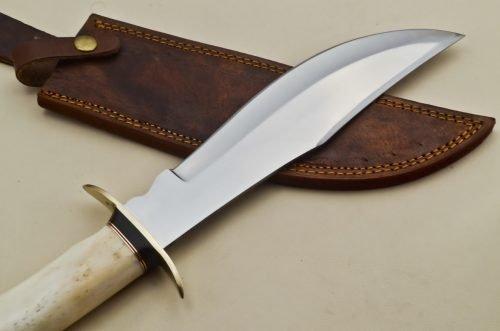 Hunting-Knife-Brass-Guard-Camel-Bone-Handle