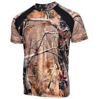 Mens Camo 100% Polyester Hunting Zone Shirt Short Sleeve Brand New HS2