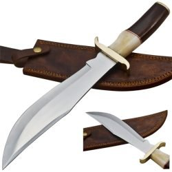 Hunting-Knife-Camel-Bone-Wood-Handle