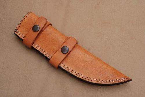 Left-Hand-Tracker-Knife-Leather-Sheath-Golden