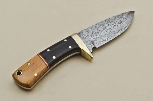 Knife-Brass-Bolster-Wood-Micarta-Handle