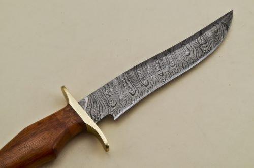 Hunting-Knife-Brass-Bolster-Marandi-Wood-Handle
