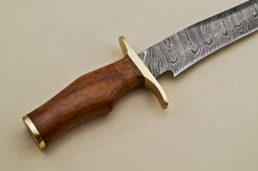 Hunting-Knife-Brass-Bolster-Marandi-Wood-Handle