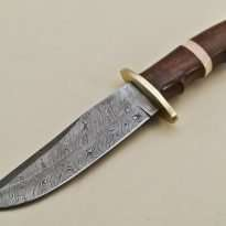 Hunting-Knife-Brass-Bolster-Wood-Handle