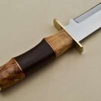 Hunting-Knife-Brass-Guard-Wood-Handle