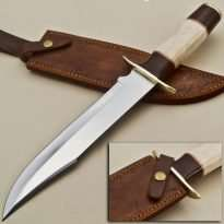 Knife-Brass-Guard-Camel-Bone-Wood-Handle