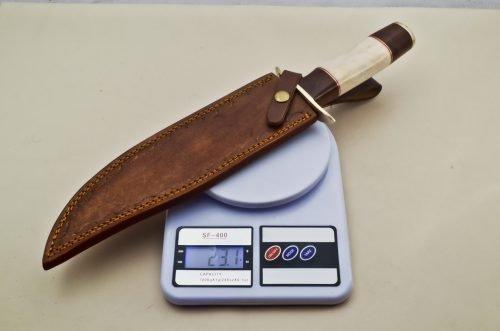Knife-Brass-Guard-Camel-Bone-Wood-Handle